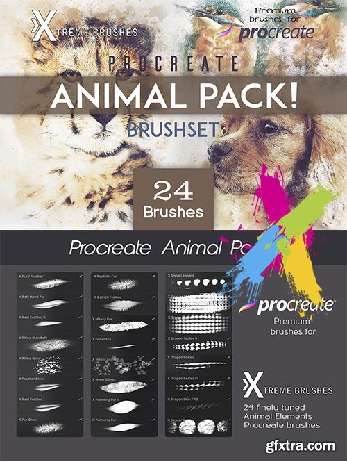 CreativeMarket - Procreate Animal Pack 3622685
