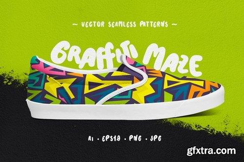 Graffiti Maze Seamless Patterns