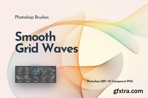 Flowing Network Waves Photoshop Brushes