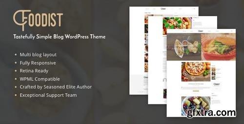 ThemeForest - Foodist v1.0.0 - Tastefully Simple Blog WordPress Theme - 15797436