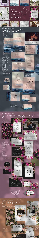 CreativeMarket - 10 IN 1 Wedding invitations bundle 3475871