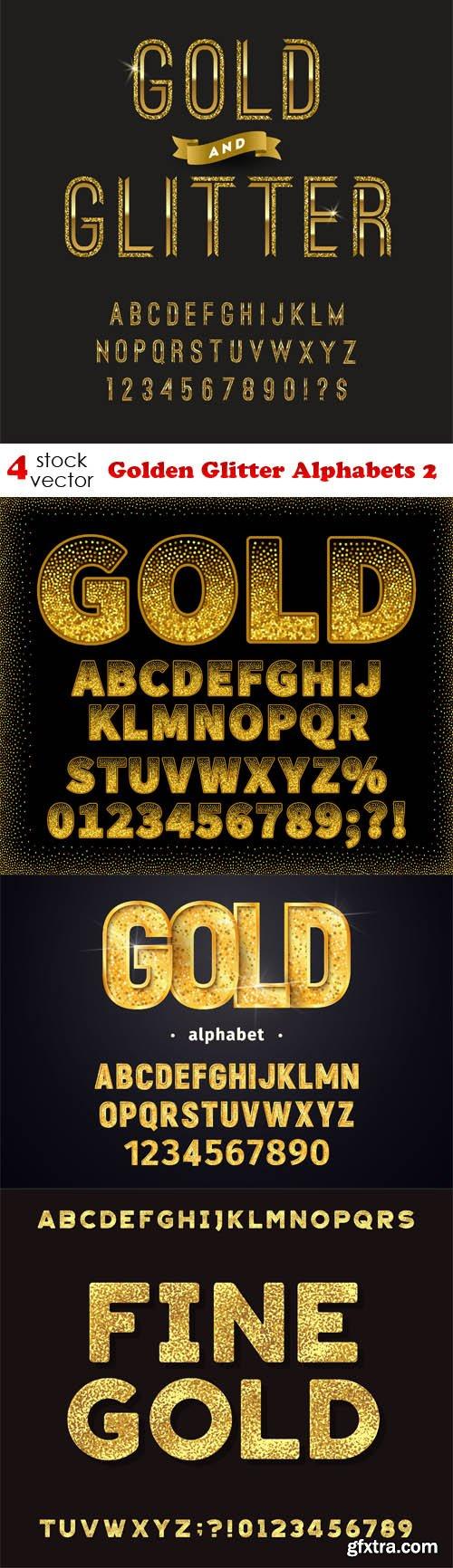 Vectors - Golden Glitter Alphabets 2