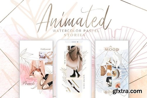 Creativemarket BUNDLE ANIMATED Instagram Templates 3205811