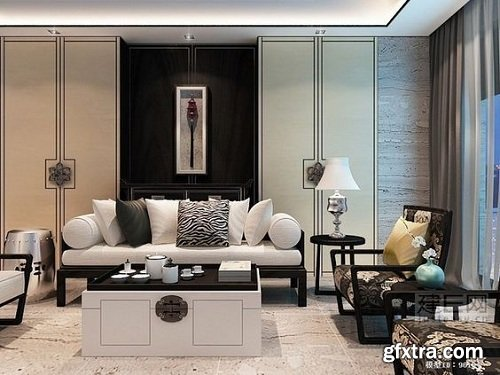 Modern Living Room 88 Interior Scene