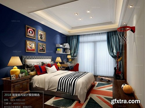 Modern Bedroom Interior Scene 70