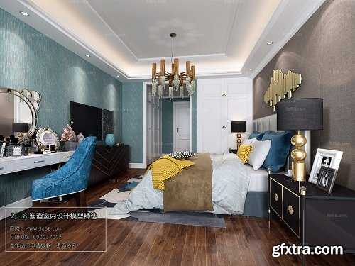 Modern Bedroom Interior Scene 71