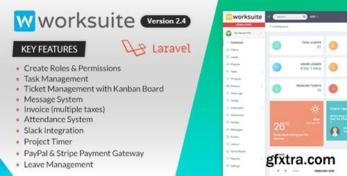 CodeCanyon - WORKSUITE v2.4.7 - Project Management System - 20052522 - NULLED