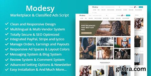 ThemeForest - Modesy v1.3.2 - Marketplace & Classified Ads Script - 22714108 - NULLED