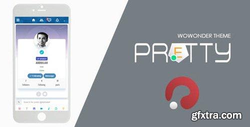 CodeCanyon - Pretty v2.0.3 - Theme for WoWonder Social PHP Script - 21851481