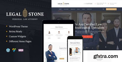 ThemeForest - Legal Stone v1.2 - Lawyers Attorneys WordPress Theme - 19931041