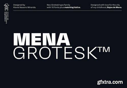Mena Grotesk Font Family