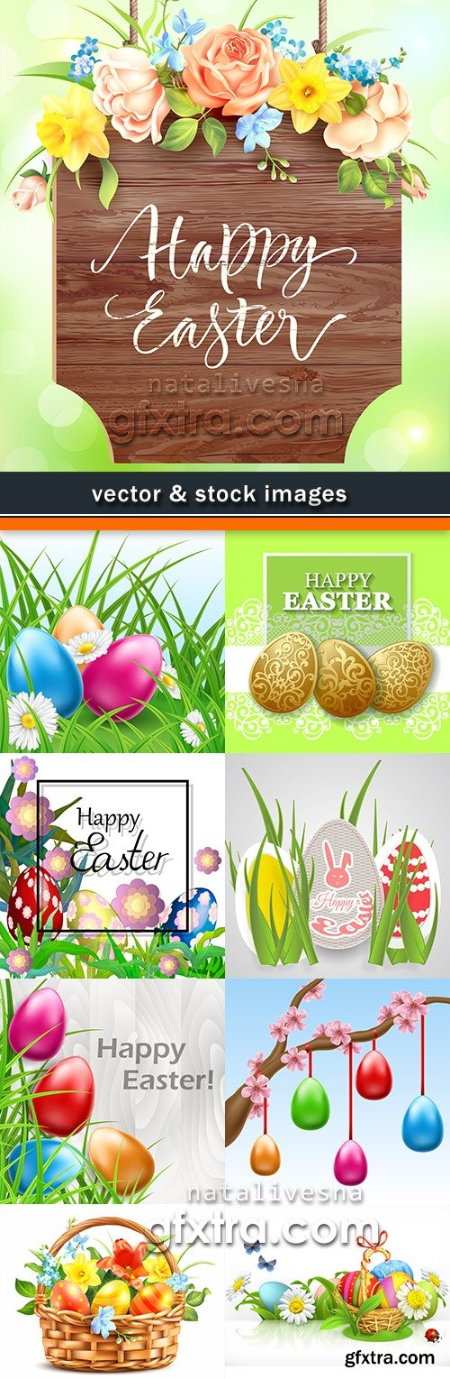 Happy Easter decorative illustration design elements 9