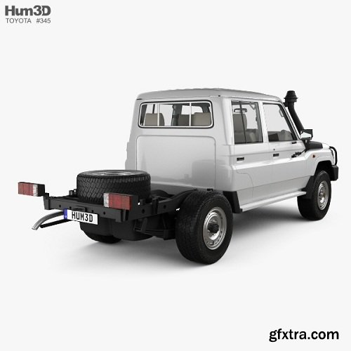 Toyota Land Cruiser (VDJ79R) Double Cab Chassis with HQ interior 2012 3D model