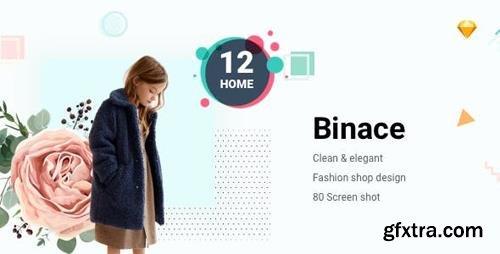 ThemeForest - Binace v1.0 - Fashion eCommerce Sketch Template - 22876790
