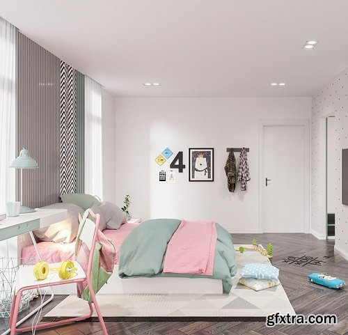 Residential House Interior Scene 03