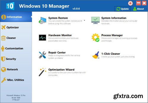 Yamicsoft Windows 10 Manager 3.0.8 Multilingual