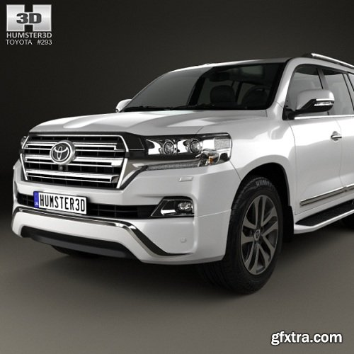 Toyota Land Cruiser VXR 2016 3d Model