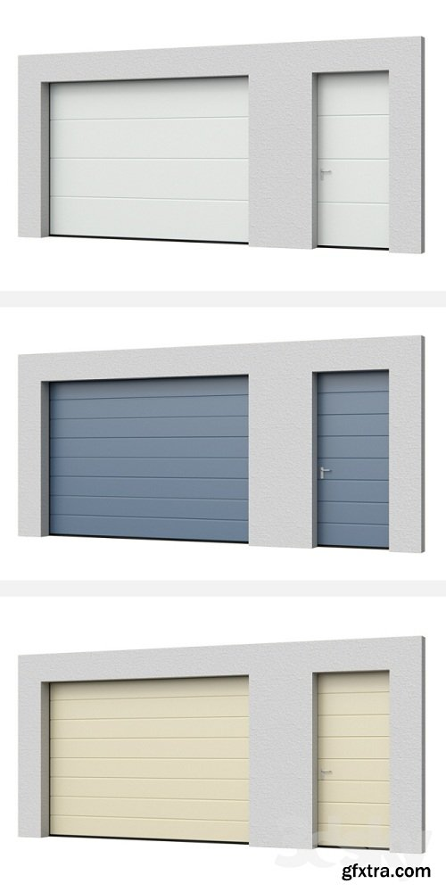 Sectional doors Hormann LPU open / closed with side door