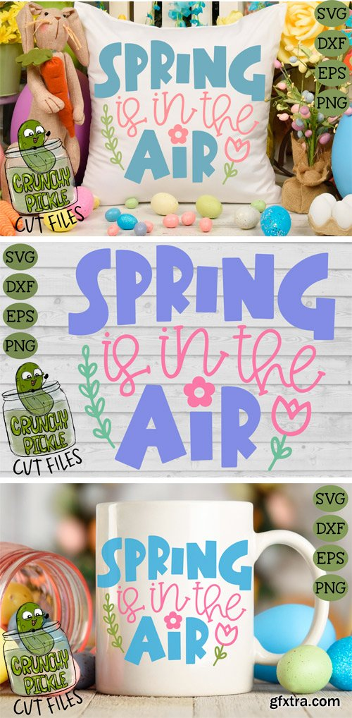 Designbundles - Spring is in the Air SVG Cut File 232751