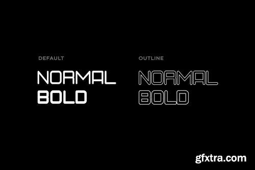 QUINT - Unique Techno New Age Display Typeface