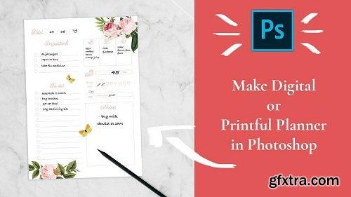 Easy, Digital, Printful, and Cute Planner Designed By You For You in Adobe Photoshop