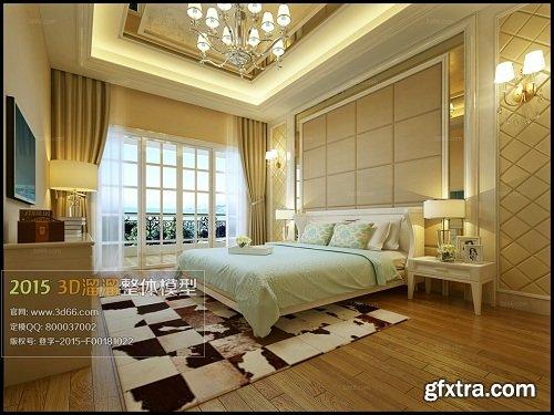 Modern Bedroom Interior Scene 74