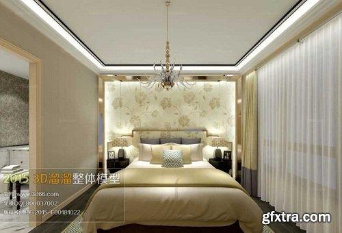 Modern Bedroom Interior Scene 75