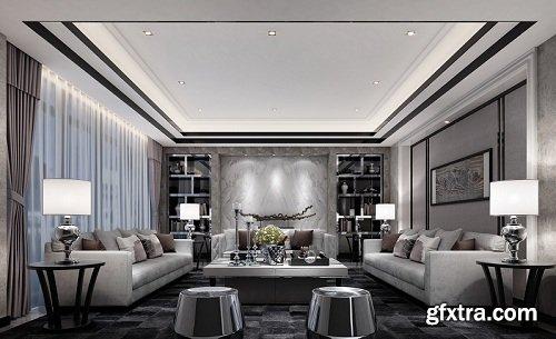 Modern Living Room 89 Interior Scene