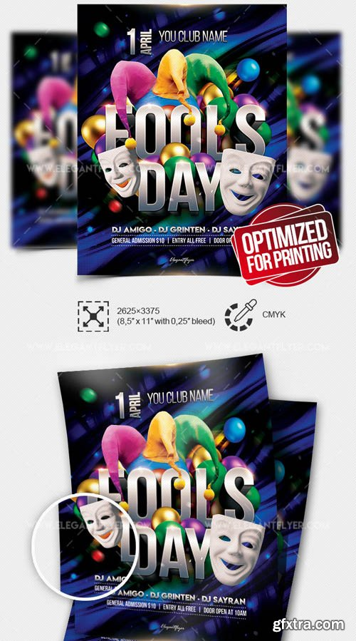 Fool's Day V1 2019 Flyer PSD Template