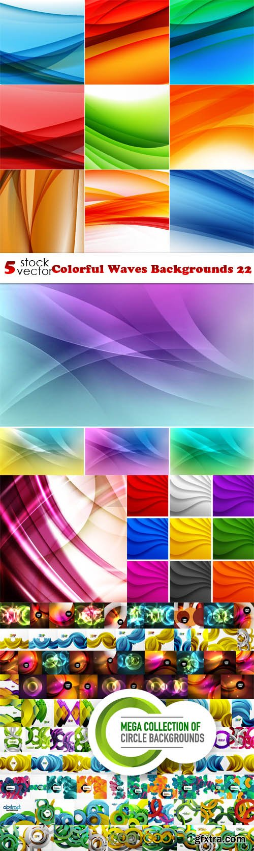 Vectors - Colorful Waves Backgrounds 22
