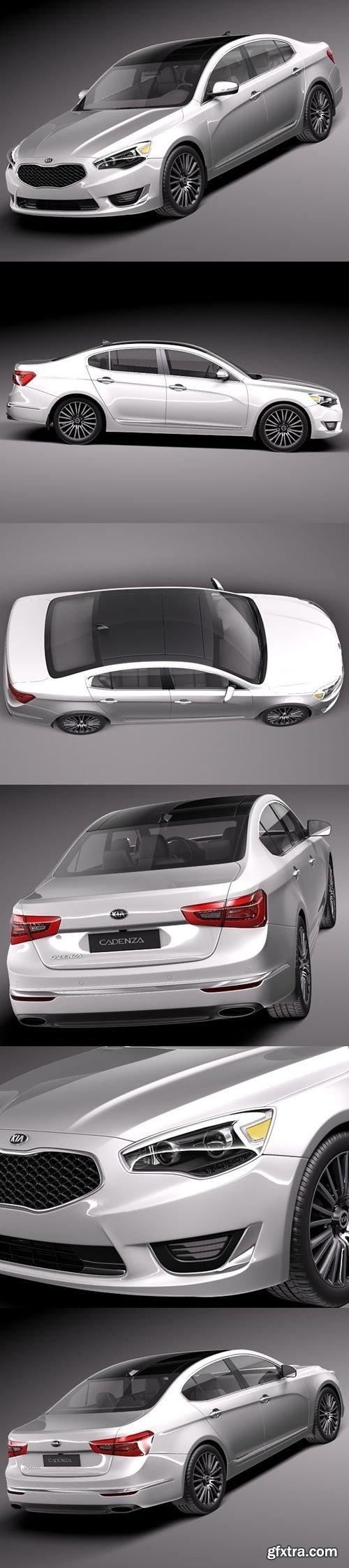 Kia Cadenza 2014 3D Model
