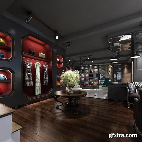 Fashion Shop 12 Interior Scene