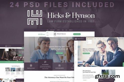 Hicks & Hynson - Law Firm Attorney PSD Template