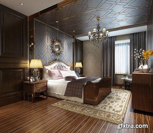 Modern Bedroom Interior Scene 79