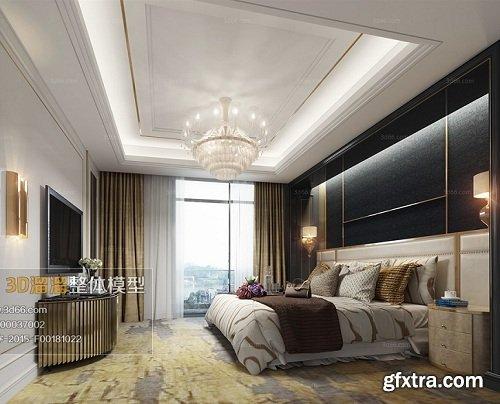 Modern Bedroom Interior Scene 80