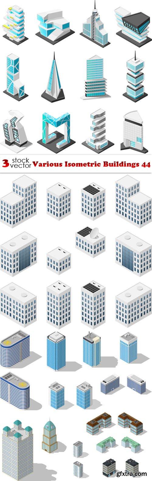 Vectors - Various Isometric Buildings 44