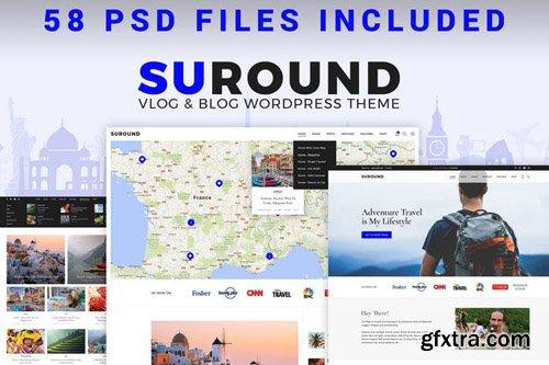 Suround - Vlog & Blog PSD Template