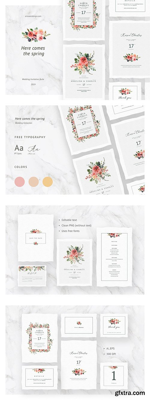 Here Comes The Spring Invitations