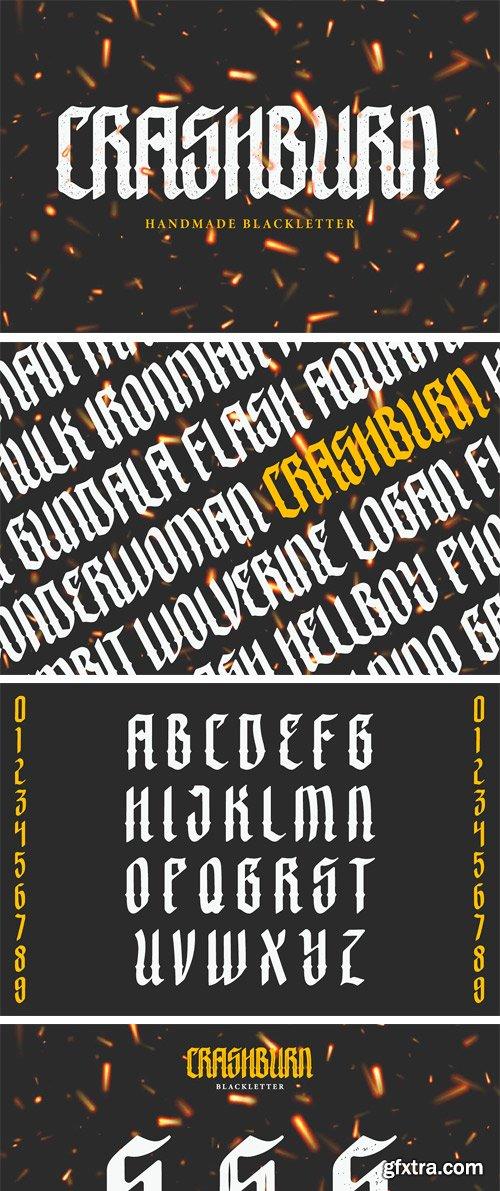 CM - Crashburn | Blackletter Font 3696444