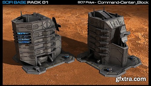 SciFi Base Pack 01 Unity Asset