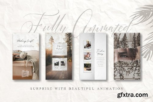 CreativeMarket ANIMATED Rustic Paper Instagram Pack 3357224