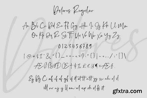 Delores Signature Font Family