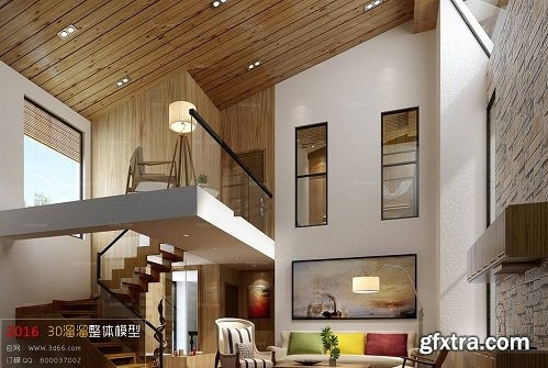 Modern Living Room 91 Interior Scene