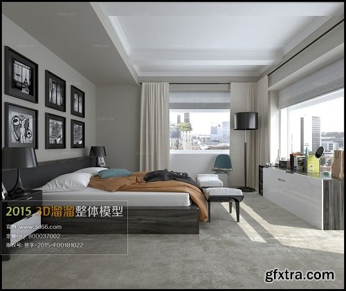 Modern Bedroom Interior Scene 81