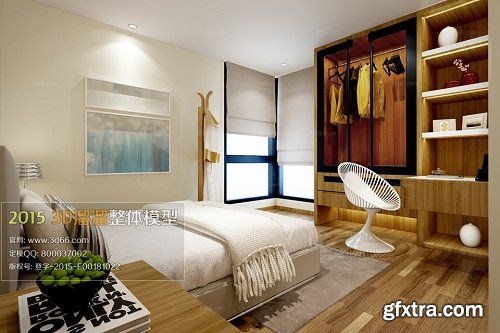Modern Bedroom Interior Scene 82