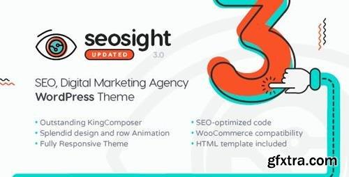 Themeforest - Seosight v3.4 - SEO, Digital Marketing Agency WP Theme with Shop - 19245326