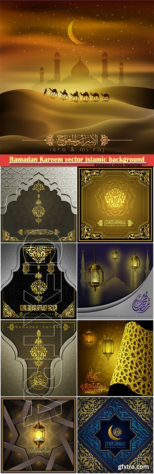 Ramadan Kareem vector islamic background