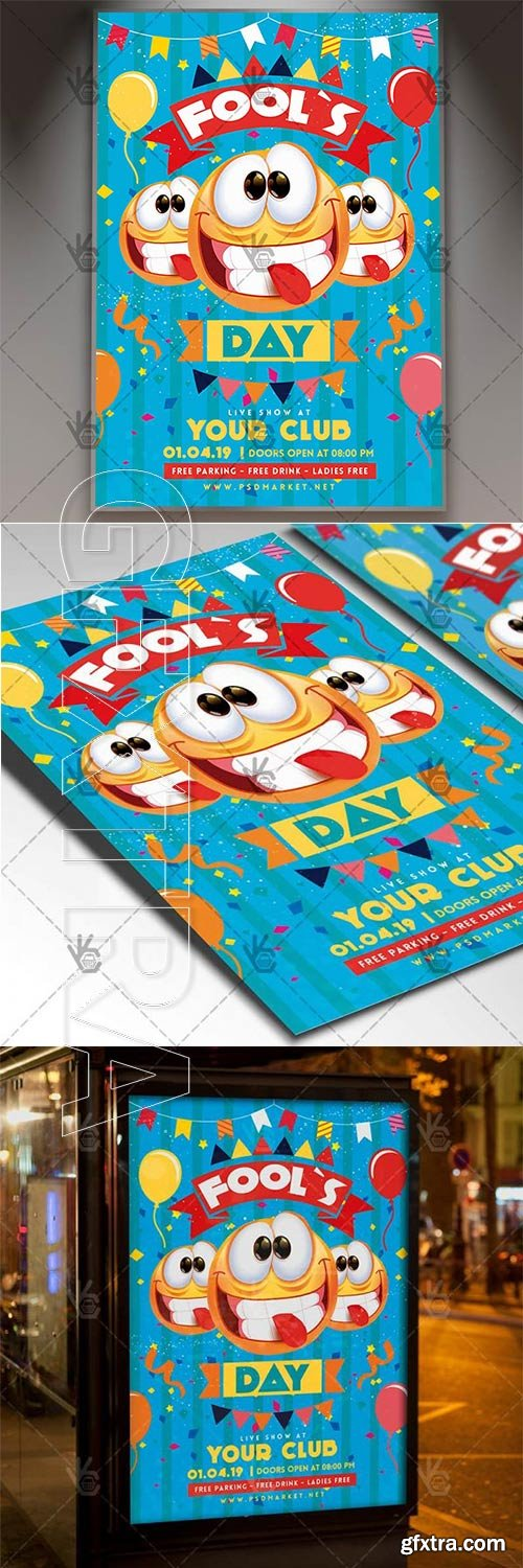 April Fools Day Flyer – Community PSD Template