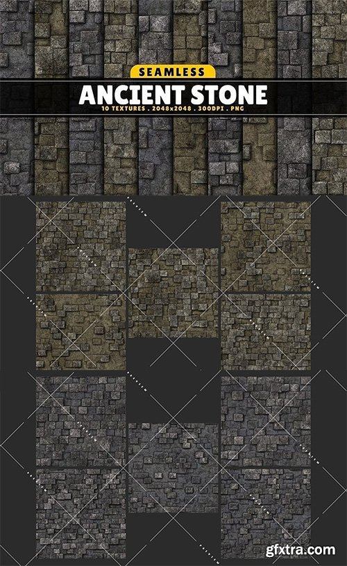 Cgtrader - Texture Pack Seamless Ancient Stone Vol 01 Texture