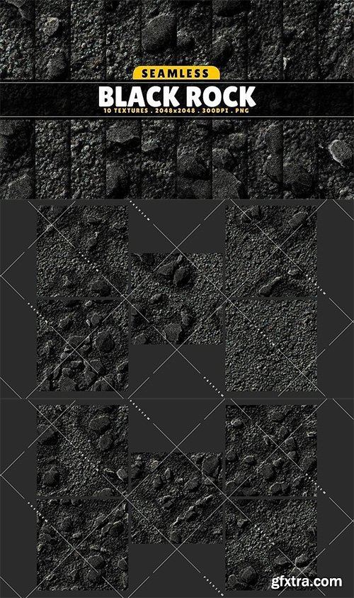 Cgtrader - Texture Pack Seamless Black Rock Vol 01 Texture